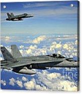Two Royal Australian Air Force Fa-18 Acrylic Print