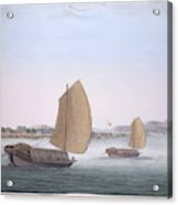 Two Sailing Boats Acrylic Print