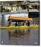 Two Shikaras Next To Each Other In The Dal Lake Acrylic Print