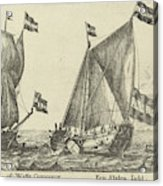 Two Ships A Statenjacht And An Interpreter Acrylic Print