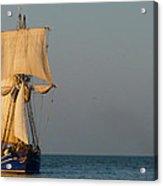 Two Ships Sailing To Port Acrylic Print