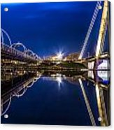 Two Southport Bridges Acrylic Print