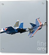 Two Sukhoi Su-27 Flanker Of The Russian Acrylic Print