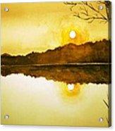 Two Suns Acrylic Print