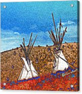 Two Teepees Acrylic Print