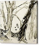 Two Tree Drawing Acrylic Print