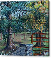 Two Trees And A Gate Acrylic Print