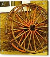 Two Wagon Wheels Acrylic Print