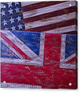 Two Wooden Flags Acrylic Print by Garry Gay