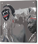 Two Yaqui Pascola Dancers Gallery In The Sun Tucson Arizona 1969-2013 Acrylic Print