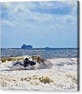 Tybee Island Kite Surfing Acrylic Print