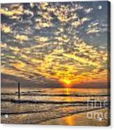 Calm Seas And A Tybee Island Sunrise Acrylic Print