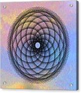 Tye Dye Spirograph Acrylic Print