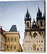 Tyn Church In Prague Acrylic Print