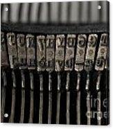 Typewriter Acrylic Print by Bernard Jaubert