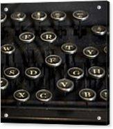 Typewriter Keys Acrylic Print