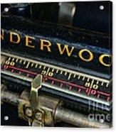 Typewriter Paper Guide Acrylic Print
