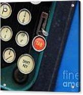 Typewriter Acrylic Print