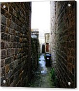 Typical English Back Alley Acrylic Print