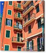 Typical Ligurian Homes Acrylic Print