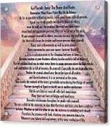 Typography Art Desiderata Poem On Stairway To Heaven Acrylic Print