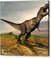 Tyrannosaurus Rex Dinosaur Walking Acrylic Print