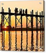 U Bein Bridge - Myanmar Acrylic Print