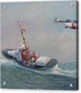 U. S. Coast Guard 44ft Motor Lifeboat And Tilt-motor Aircraft  Acrylic Print