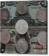 U S History Of Silver Dollars Acrylic Print