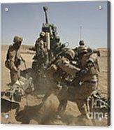 U. S. Marines Ram A Satellite-guided Acrylic Print