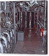 U S S Bowfin Submarine Engine Room Acrylic Print