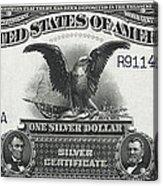 U. S. Silver Certificate 1899 Acrylic Print