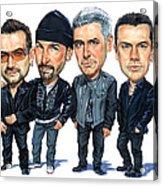 U2 Acrylic Print by Art