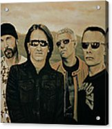 U2 Silver And Gold Acrylic Print