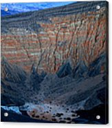 Ubehebe Crater Twilight Death Valley National Park Acrylic Print