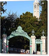 Uc Berkeley . Sproul Plaza . Sather Gate And Sather Tower Campanile . 7d10027 Acrylic Print