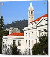 Uc Berkeley . Sproul Plaza . Sproul Hall .  Sather Tower Campanile . 7d10008 Acrylic Print