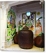 Udaipur City Palace Rajasthan India Queens Kitchen Acrylic Print