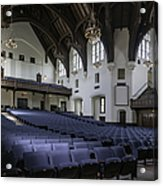 Uf University Auditorium Interior And Seating Acrylic Print