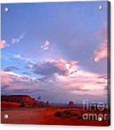 Ufo At Monument Valley Acrylic Print
