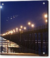 Ufo's Over Oceanside Pier Acrylic Print
