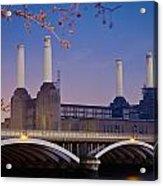 Uk, England, View Of Battersea Power Acrylic Print