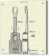 Ukelele 1940 Patent Art Acrylic Print by Prior Art Design
