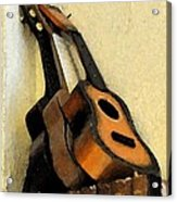 Ukes Acrylic Print by Everett Bowers