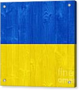 Ukraine Flag Acrylic Print