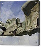 Ulmer Munster Gargoyle Acrylic Print by Sam Sidders