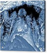 Ultraviolet Cave In Winter Acrylic Print