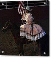 July 4th Rodeo Hispanic Female Rider Charreada Chandler Arizona 1999-2014 Acrylic Print