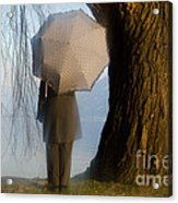 Umbrella And Tree Acrylic Print
