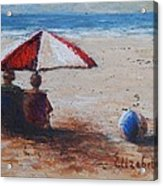 Umbrella Beach Acrylic Print